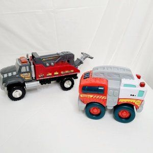2 Tonka toy trucks
